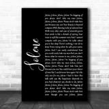 Dolly Parton Jolene Black Script Song Lyric Music Art Print