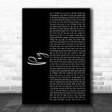 Dave Matthews Band Pig Black Script Song Lyric Music Art Print