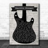 Marcus King Beautiful Stranger Electric Guitar Music Script Song Lyric Music Art Print
