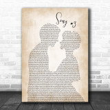 Stone Sour Song 3 Man Lady Bride Groom Wedding Song Lyric Music Wall Art Print