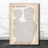 Luther Vandross Dance With My Father Father & Child Song Lyric Music Art Print