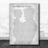 Stevie Wonder I Just Called To Say I Love You Father & Child Grey Song Lyric Music Art Print