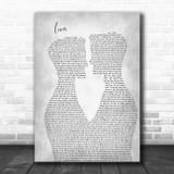 Taylor Swift Lover Two Men Gay Couple Wedding Grey Song Lyric Music Art Print