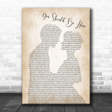 Cole Swindell You Should Be Here Man Lady Bride Groom Wedding Song Lyric Music Wall Art Print