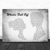 JellyRoll Wheels Fall Off Man Lady Couple Grey Song Lyric Music Art Print