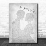 Barry White Just The Way You Are Man Lady Bride Groom Wedding Grey Song Lyric Music Art Print