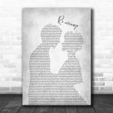 Biffy Clyro Re-arrange Man Lady Bride Groom Wedding Grey Song Lyric Music Art Print