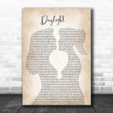 Taylor Swift Daylight Lesbian Women Gay Brides Couple Wedding Song Lyric Music Art Print
