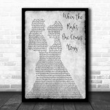 Clare Bowen & Sam Palladio When The Right One Comes Along Lesbian Couple Two Ladies Dancing Grey Song Lyric Music Art Print