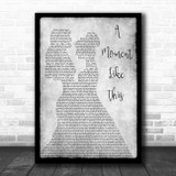 Leona Lewis A Moment Like This Lesbian Couple Two Ladies Dancing Grey Song Lyric Music Art Print