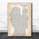 Oliver the Musical I'd Do Anything for You Mother & Baby Song Lyric Music Art Print