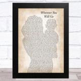 The Calling Wherever You Will Go Mother & Baby Song Lyric Music Art Print