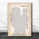 McFly All About You Mother & Baby Song Lyric Music Art Print