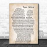 Freda Payne Band Of Gold Mother & Baby Song Lyric Music Art Print