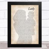 Brett Young Lady Mother & Baby Song Lyric Music Art Print