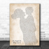 Beth Porch You Taught Me What Love Is Mother & Child Song Lyric Music Art Print