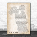 Callum Scott & Leona Lewis You Are The Reason Mother & Child Song Lyric Music Art Print