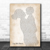 Sam Smith Lay Me Down Mother & Child Song Lyric Music Art Print
