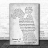 Ellie Goulding How Long Will I Love You Mother & Child Grey Song Lyric Music Art Print