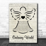 Duran Duran Ordinary World Music Script Angel Song Lyric Music Art Print
