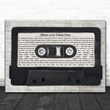 David Guetta feat. Kelly Rowland When Love Takes Over Music Script Cassette Tape Song Lyric Music Art Print