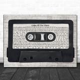 Volbeat Cape Of Our Hero Music Script Cassette Tape Song Lyric Music Art Print