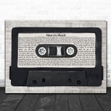 Johnny Cash Man In Black Music Script Cassette Tape Song Lyric Music Art Print