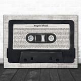 Darius Rucker Wagon Wheel Music Script Cassette Tape Song Lyric Music Art Print