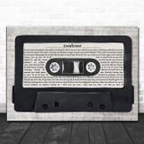 The Courteeners Sunflower Music Script Cassette Tape Song Lyric Music Art Print