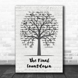 Europe The Final Countdown Music Script Tree Song Lyric Music Art Print