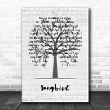 Eva Cassidy Songbird Music Script Tree Song Lyric Music Art Print
