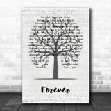 Ben Harper Forever Music Script Tree Song Lyric Music Art Print