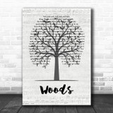 Mac Miller Woods Music Script Tree Song Lyric Music Art Print