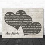 Katherine Jenkins Ave Maria Landscape Music Script Two Hearts Song Lyric Music Art Print