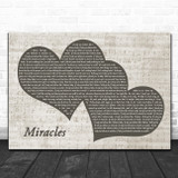 Jefferson Starship Miracles Landscape Music Script Two Hearts Song Lyric Music Art Print