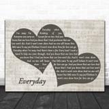 Slade Everyday Landscape Music Script Two Hearts Song Lyric Music Art Print