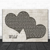 John Legend & Gary Clark Jr Wild Landscape Music Script Two Hearts Song Lyric Music Art Print