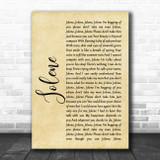 Dolly Parton Jolene Rustic Script Song Lyric Music Art Print