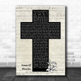 Brandon Lake House Of Miracles Music Script Christian Memorial Cross Song Lyric Music Art Print