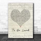 Papa Roach To Be Loved Script Heart Song Lyric Music Art Print