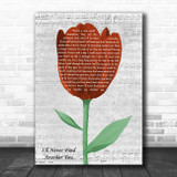 The Seekers I'll Never Find Another You Grey Script Watercolour Tulip Song Lyric Music Art Print