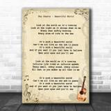 The Chevin Beautiful World Vintage Guitar Song Lyric Music Art Print