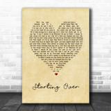 Chris Stapleton Starting Over Vintage Heart Song Lyric Music Art Print