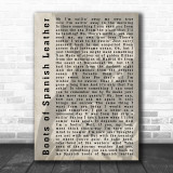 Bob Dylan Boots of Spanish Leather Shadow Song Lyric Music Wall Art Print