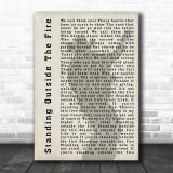 Garth Brooks Standing Outside The Fire Shadow Song Lyric Music Wall Art Print
