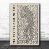 Michael Jackson The Way You Make Me Feel Shadow Song Lyric Music Wall Art Print