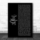 Matchbox Twenty 3AM Black Script Song Lyric Art Print