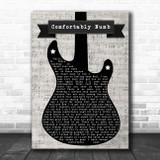 Pink Floyd Comfortably Numb Electric Guitar Music Script Song Lyric Art Print