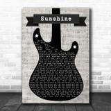 Tom Misch Sunshine Electric Guitar Music Script Song Lyric Art Print