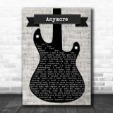 Travis Tritt Anymore Electric Guitar Music Script Song Lyric Art Print